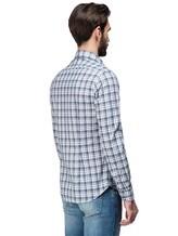 Рубашка XACUS 719ML 96% хлопок, 4% полиамид Бело-синий Италия изображение 3
