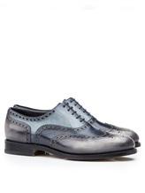 Ботинки Santoni MCCG14059 100% кожа Сине-серый Италия изображение 0