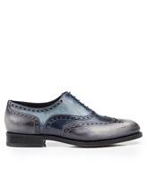 Ботинки Santoni MCCG14059 100% кожа Сине-серый Италия изображение 1