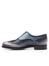 Ботинки Santoni MCCG14059 100% кожа Сине-серый Италия изображение 2