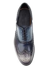 Ботинки Santoni MCCG14059 100% кожа Сине-серый Италия изображение 4