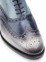 Ботинки Santoni MCCG14059 100% кожа Сине-серый Италия изображение 5