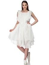 Платье Semi COUTURE E7E403 100%хлопок Белый Италия изображение 0