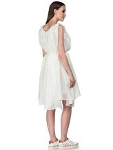 Платье Semi COUTURE E7E403 100%хлопок Белый Италия изображение 4