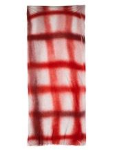 Палантин Faliero Sarti 2013 100% модал Красно-серый Италия изображение 2