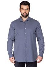 Рубашка FAY NRMA334245L 100%хлопок Темно-синий Румыния изображение 2