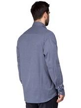 Рубашка FAY NRMA334245L 100%хлопок Темно-синий Румыния изображение 4