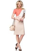 Платье Agnona R9200A 96% шерсть 4% эластан Бледно-розовый Италия изображение 0
