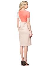 Платье Agnona R9200A 96% шерсть 4% эластан Бледно-розовый Италия изображение 3