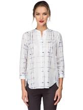 Рубашка Le Sarte Pettegole R7P 100%хлопок Бело-синий Италия изображение 1