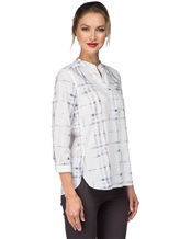 Рубашка Le Sarte Pettegole R7P 100%хлопок Бело-синий Италия изображение 2
