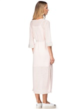 Платье Vittoria Sedici AA1317 68% лён, 28% хлопок, 4% полиамид Розовый Италия изображение 3