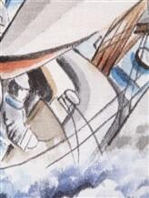 Поло Bertolo 900270 100% шёлк Синий Италия изображение 6