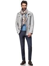 Куртка Mandelli A3T544 52% лён, 41% шерсть, 7% шёлк Светло-серый Италия изображение 0
