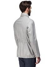 Куртка Mandelli A3T544 52% лён, 41% шерсть, 7% шёлк Светло-серый Италия изображение 3