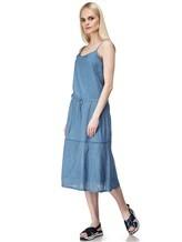 Платье Massimo Alba EBE 70% хлопок, 30% шёлк Серо-голубой Италия изображение 0