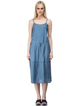 Платье Massimo Alba EBE 70% хлопок, 30% шёлк Серо-голубой Италия изображение 1