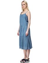 Платье Massimo Alba EBE 70% хлопок, 30% шёлк Серо-голубой Италия изображение 2
