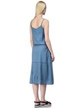 Платье Massimo Alba EBE 70% хлопок, 30% шёлк Серо-голубой Италия изображение 3
