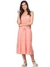Платье Massimo Alba EBE 70% хлопок, 30% шёлк Коралловый Италия изображение 0
