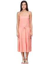 Платье Massimo Alba EBE 70% хлопок, 30% шёлк Коралловый Италия изображение 1