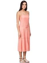 Платье Massimo Alba EBE 70% хлопок, 30% шёлк Коралловый Италия изображение 2