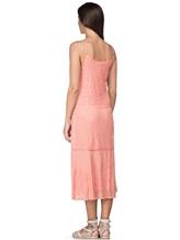 Платье Massimo Alba EBE 70% хлопок, 30% шёлк Коралловый Италия изображение 3