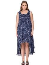 Платье Re Vera 17002023 100% шёлк Синий Италия изображение 1