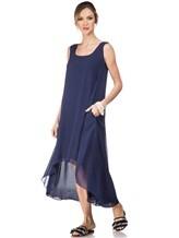 Платье Re Vera 17002023 100% шёлк Синий Италия изображение 0