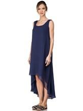 Платье Re Vera 17002023 100% шёлк Синий Италия изображение 2