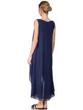 Платье Re Vera 17002023 100% шёлк Синий Италия изображение 3