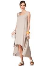 Платье Re Vera 17002023 100% шёлк Серо-бежевый Италия изображение 0