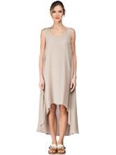 Платье Re Vera 17002023 100% шёлк Серо-бежевый Италия изображение 1
