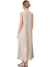 Платье Re Vera 17002023 100% шёлк Серо-бежевый Италия изображение 3