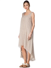 Платье Re Vera 17002023 100% шёлк Серо-бежевый Италия изображение 2