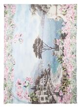 Палантин Francesca Bassi D17E-F102 100% модал Розово-зеленый Италия изображение 2