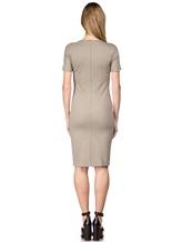 Платье Les Copains 0L5440 65% вискоза, 29% полиамид, 6% эластан Серо-бежевый Румыния изображение 3