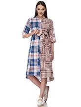Платье Tsumori Chisato TC77FH007 100%хлопок Сине-красный Китай изображение 0
