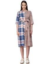 Платье Tsumori Chisato TC77FH007 100%хлопок Сине-красный Китай изображение 1