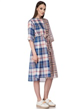Платье Tsumori Chisato TC77FH007 100%хлопок Сине-красный Китай изображение 2