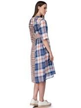 Платье Tsumori Chisato TC77FH007 100%хлопок Сине-красный Китай изображение 3