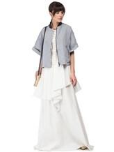 Платье Brunello Cucinelli A4278 75% хлопок, 25% полиамид Белый Италия изображение 0