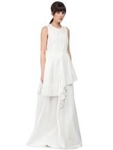 Платье Brunello Cucinelli A4278 75% хлопок, 25% полиамид Белый Италия изображение 2