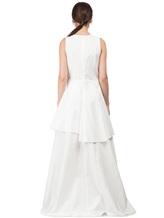 Платье Brunello Cucinelli A4278 75% хлопок, 25% полиамид Белый Италия изображение 3