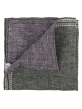 Платок Brunello Cucinelli 0091 100% лён Серо-зеленый Италия изображение 1