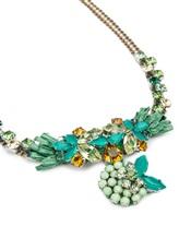 Колье Les Copains 00A300 50% металл, 30% стекло, 10% полиэстер, 10% шёлк Зеленый Италия изображение 1