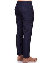 Брюки Brunello Cucinelli E1460 100% шерсть Темно-синий Италия изображение 3