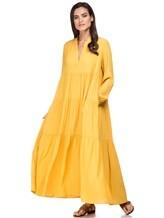 Платье Semi COUTURE E7EL01 65% ацетат, 35% шёлк Желтый Италия изображение 0