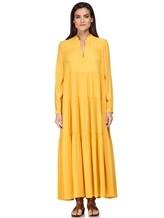 Платье Semi COUTURE E7EL01 65% ацетат, 35% шёлк Желтый Италия изображение 1