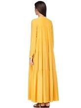 Платье Semi COUTURE E7EL01 65% ацетат, 35% шёлк Желтый Италия изображение 3